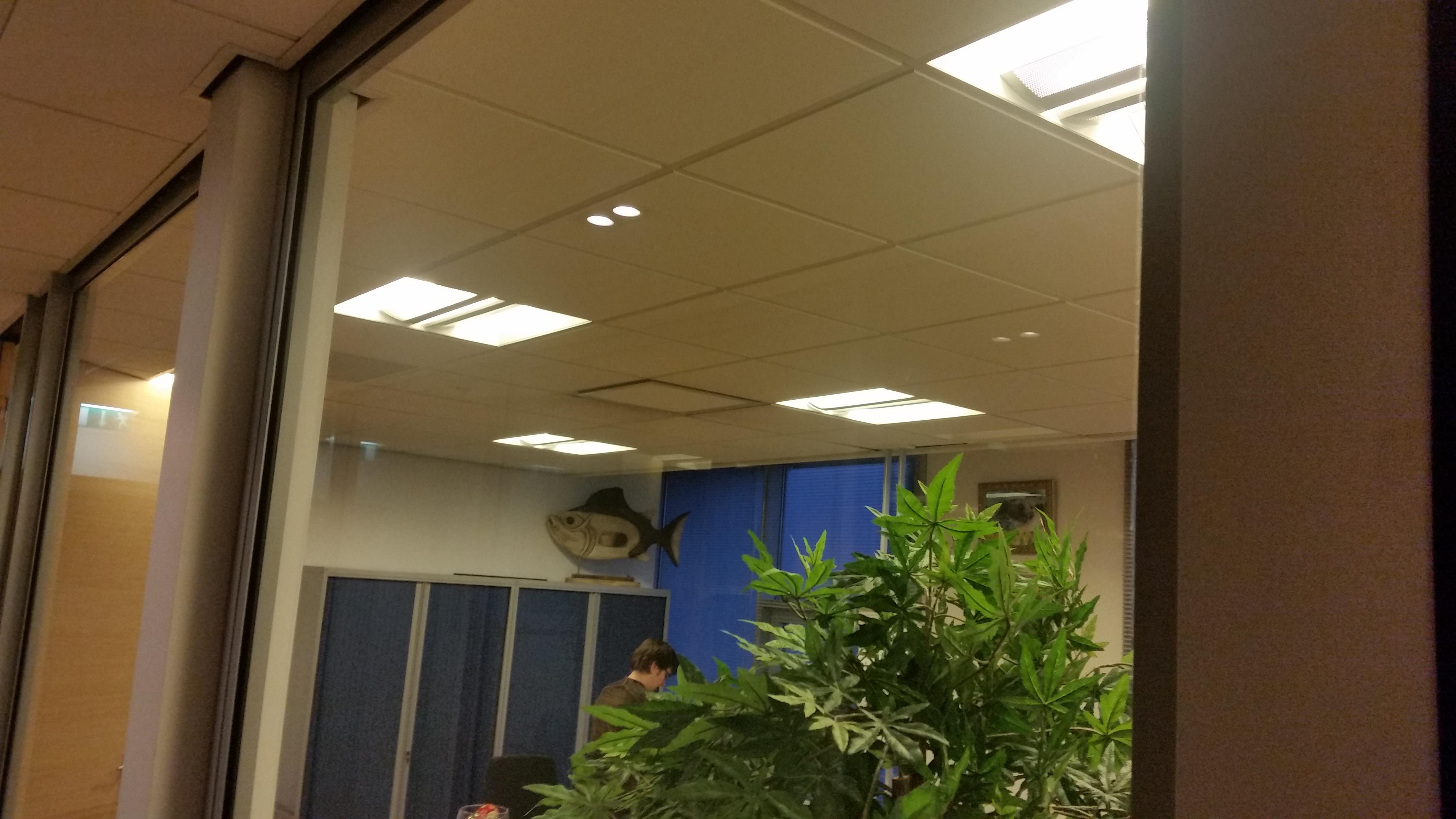 kantoor verlicht met indirecte pl verlichting
